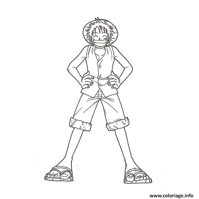 Coloriage monkey d luffy onepiece - One piece coloriage ...