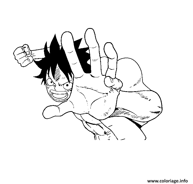 Coloriage Combat Luffy Onepiece Dessin