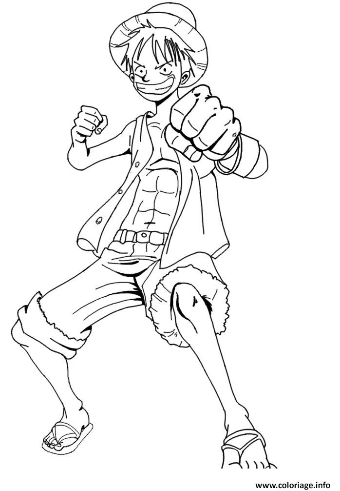 Coloriage luffy 2 onepiece excite - Dessin a colorier one piece ...