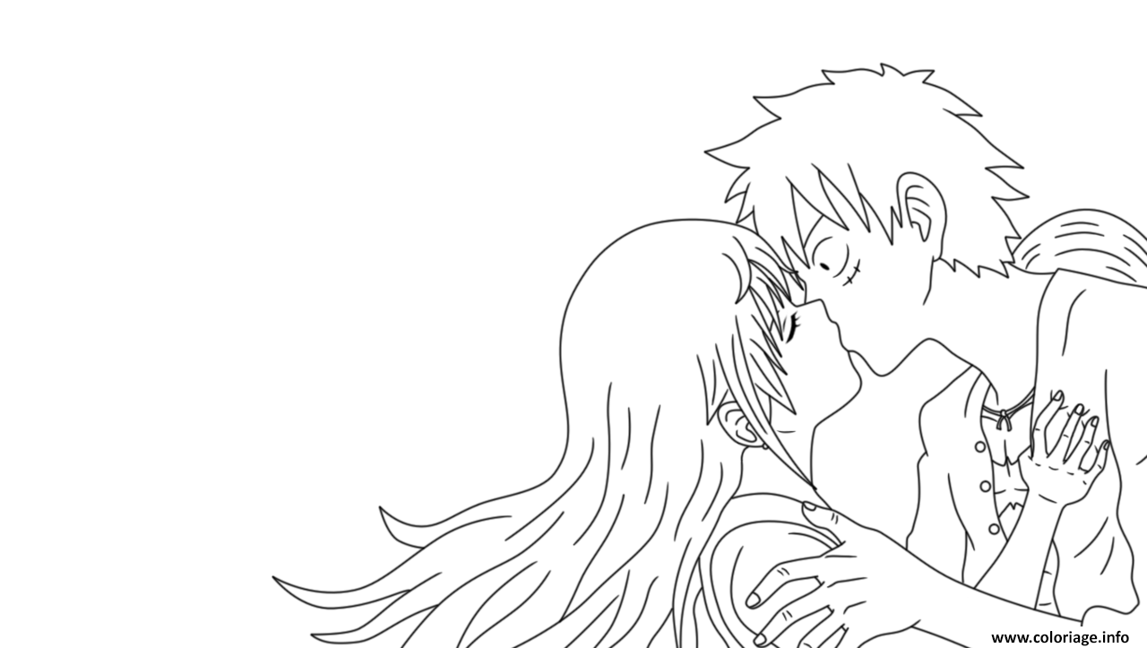 Coloriage nami et luffy onepiece - One piece coloriage ...
