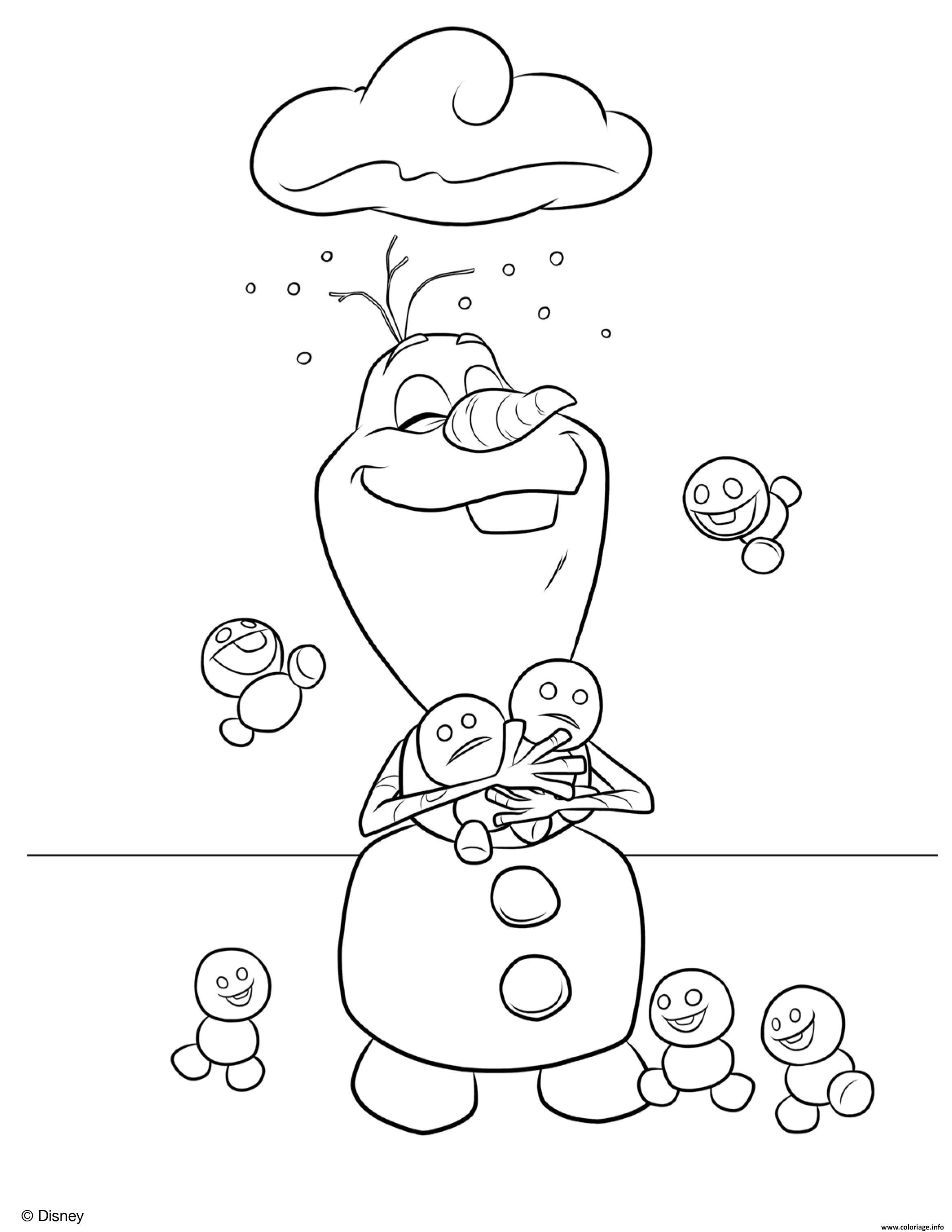 Coloriage Olaf.Coloriage Olaf Est Cool Et Aime La Neige Jecolorie Com