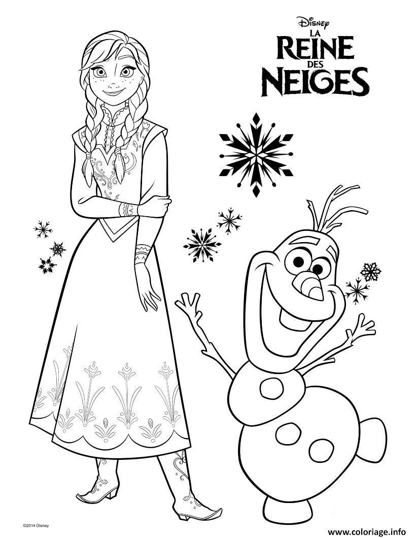 Coloriage frozen anna et olaf aventure reine des neiges dessin - Coloriage frozen ...