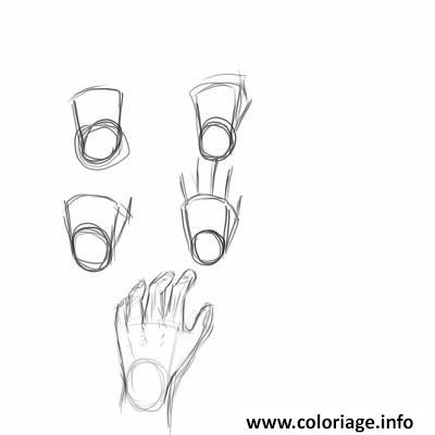 Dessin comment dessiner une main enfant Coloriage Gratuit à Imprimer