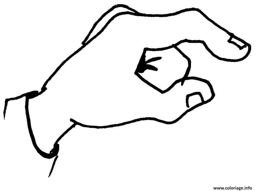 Coloriage main adulte - JeColorie.com