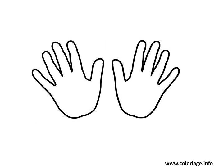 Dessin deux mains enfants Coloriage Gratuit à Imprimer