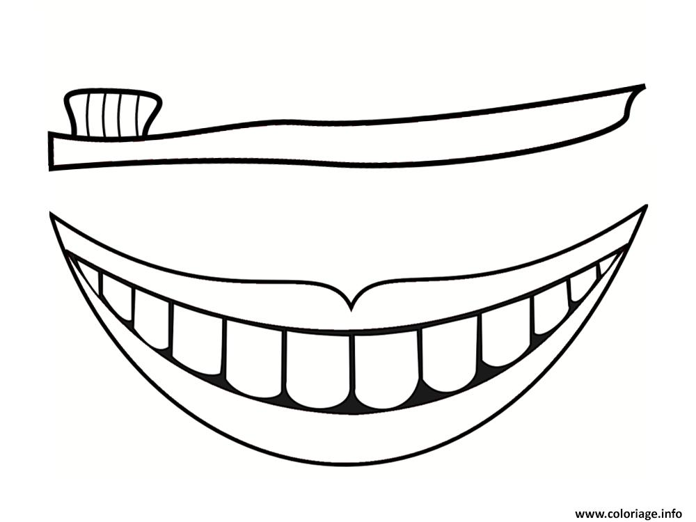 Dessin dent sourire Coloriage Gratuit à Imprimer