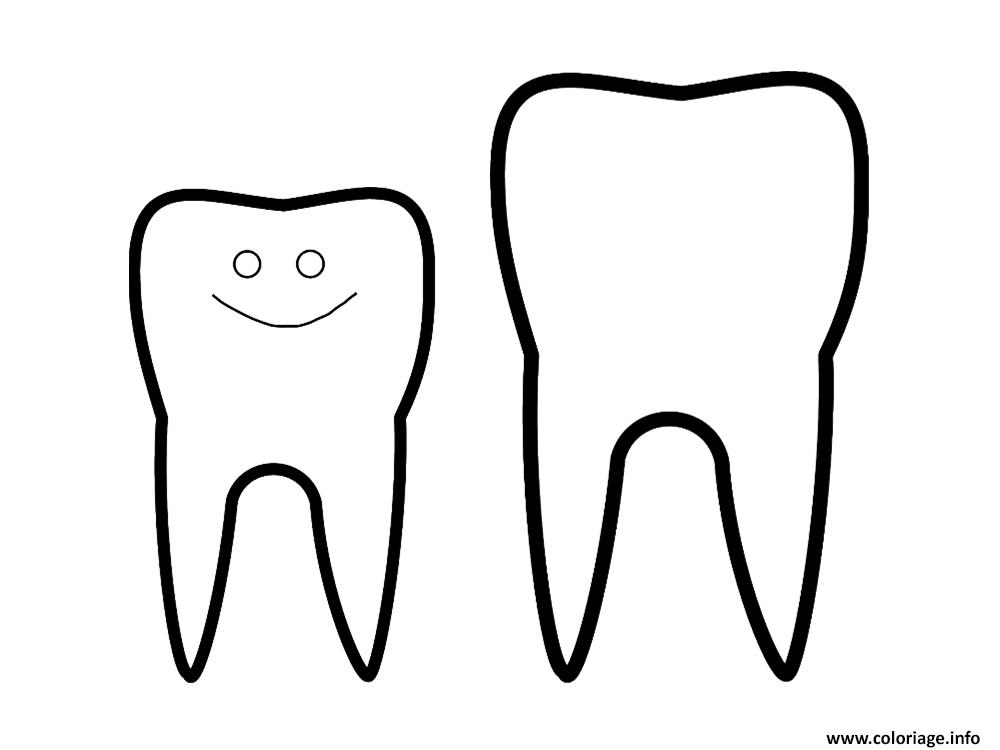 Coloriage des dents - Dessin de dent ...