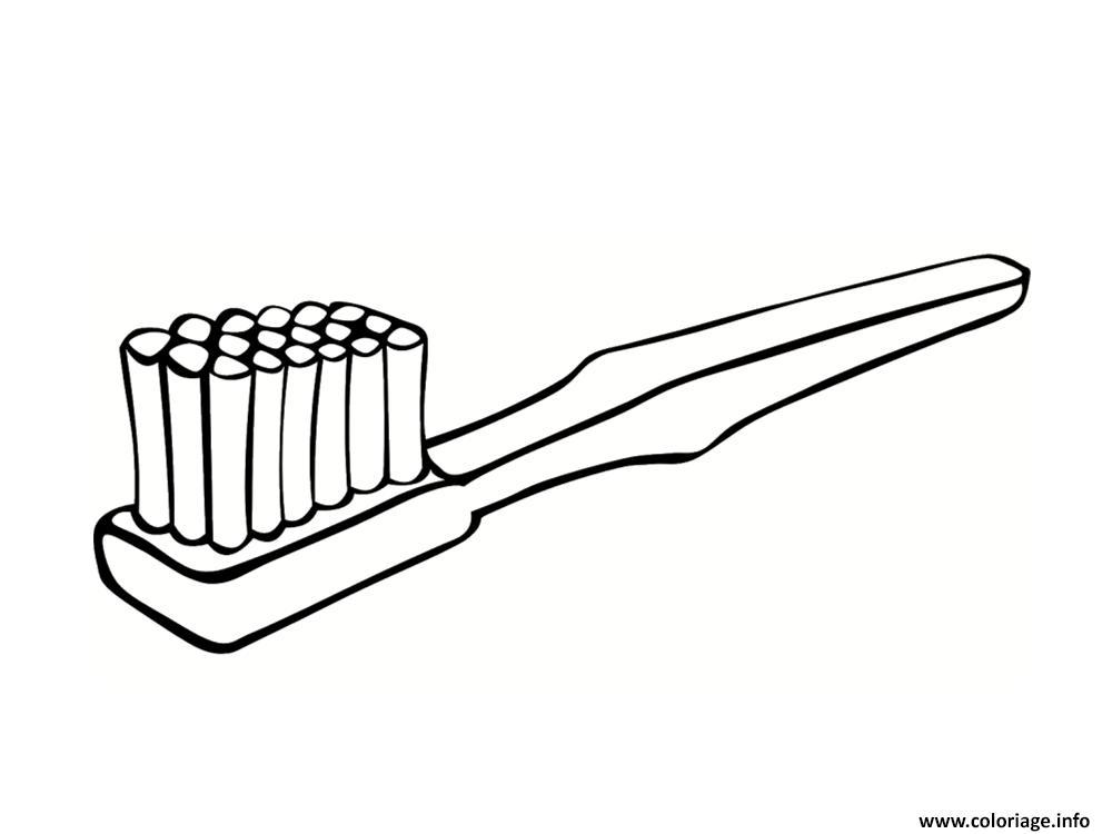 coloriage brosse a dents dessin. Black Bedroom Furniture Sets. Home Design Ideas