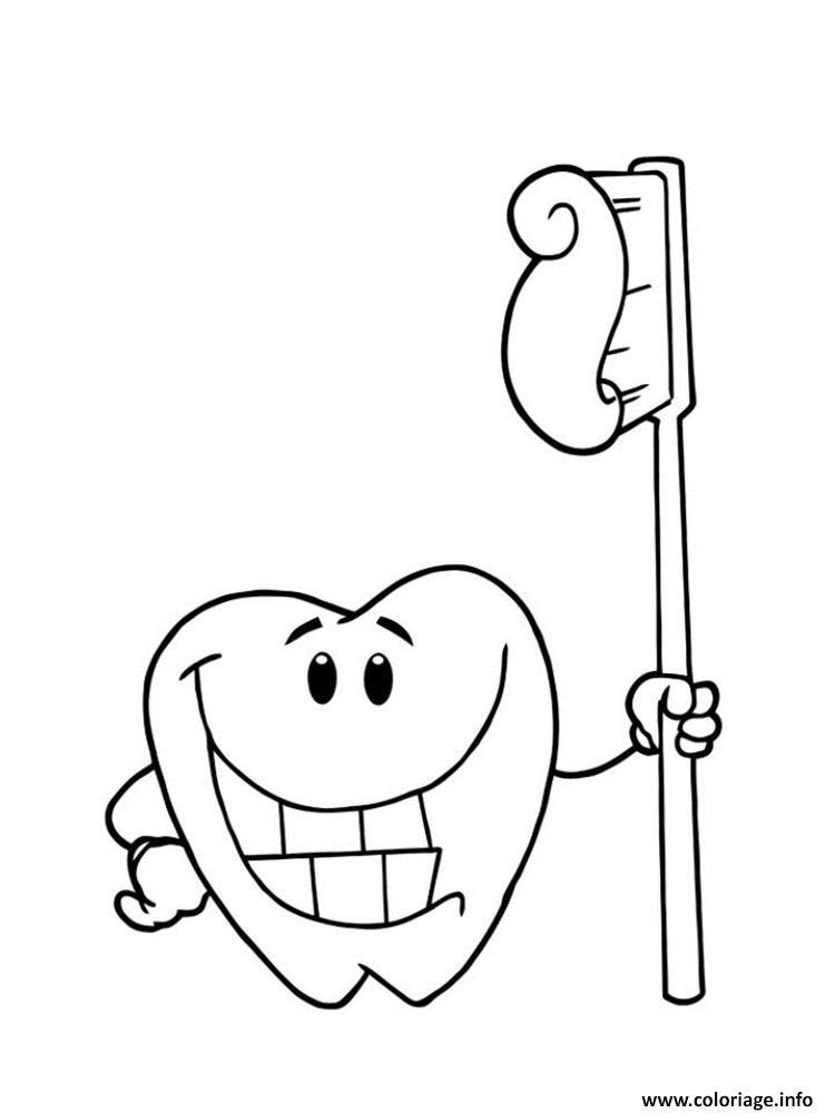 Dessin dent sourire 2 Coloriage Gratuit à Imprimer