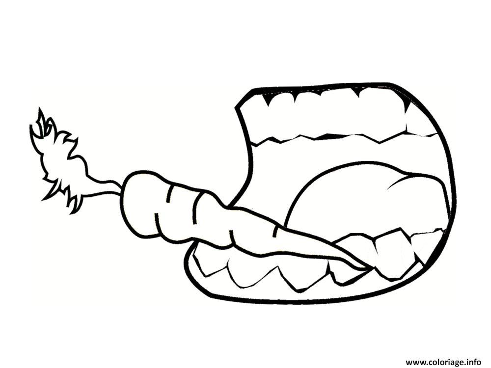 Dessin dent carotte Coloriage Gratuit à Imprimer