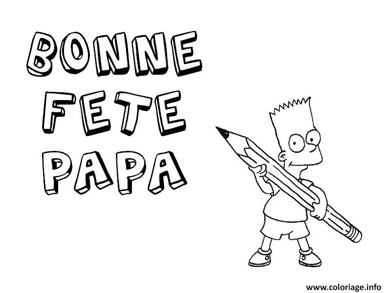 coloriage fete des peres bart simpsons. Black Bedroom Furniture Sets. Home Design Ideas