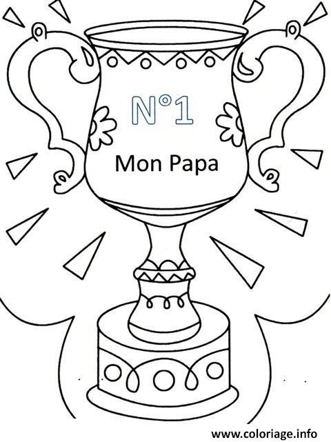 papa numero un fete des peres coloriage dessin
