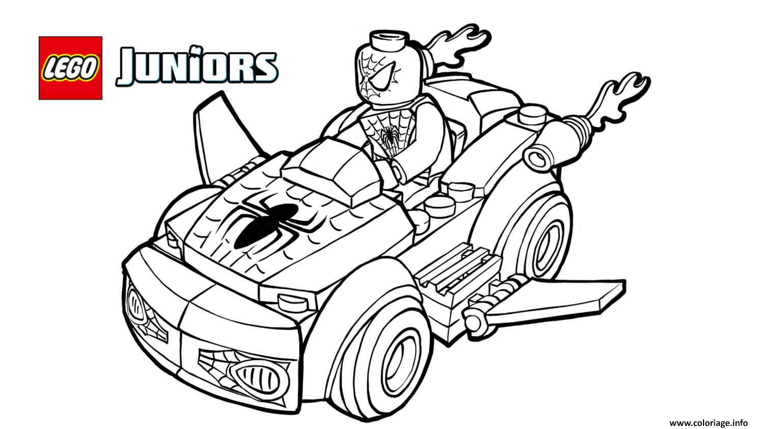 Coloriage lego spiderman 2 voiture lego dessin - Coloriage spiderman 1 ...