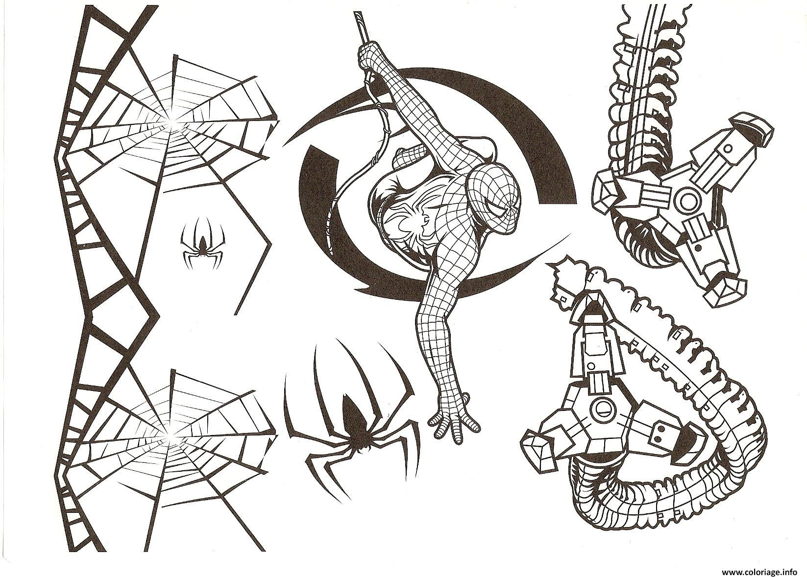 Coloriage spiderman spiders dessin - Dessin dessin ...