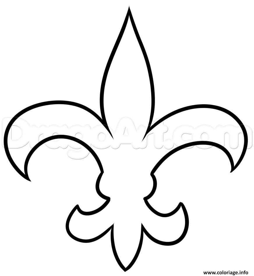 Coloriage Fleur De Lis Nouvelle Orlean Dessin  Imprimer