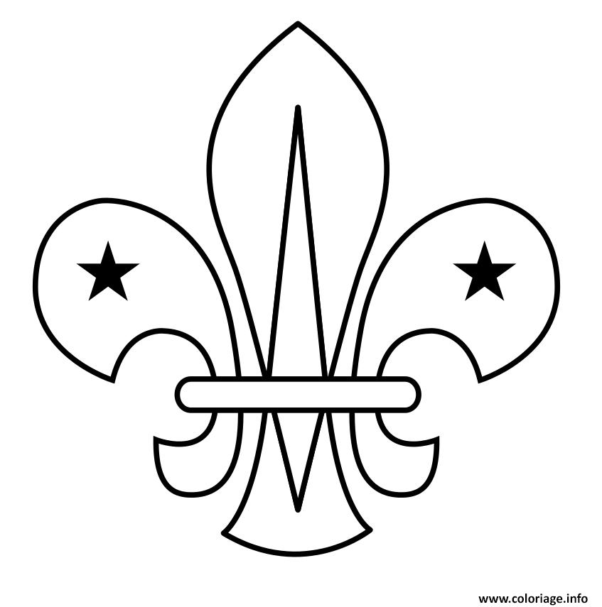 Dessin fleur de lis Scouting Scout Coloriage Gratuit à Imprimer