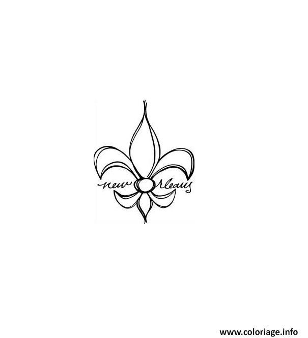 Dessin fleur de lis new orleans Coloriage Gratuit à Imprimer