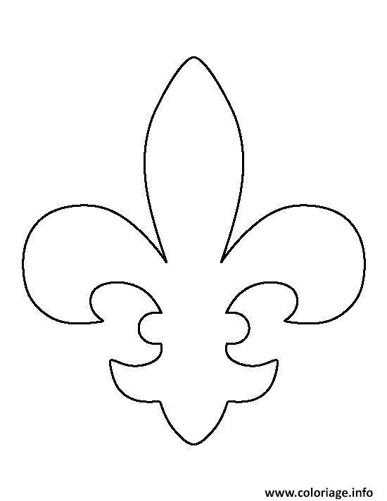 Coloriage fleur de lis pattern - Coloriage fleur de lys ...