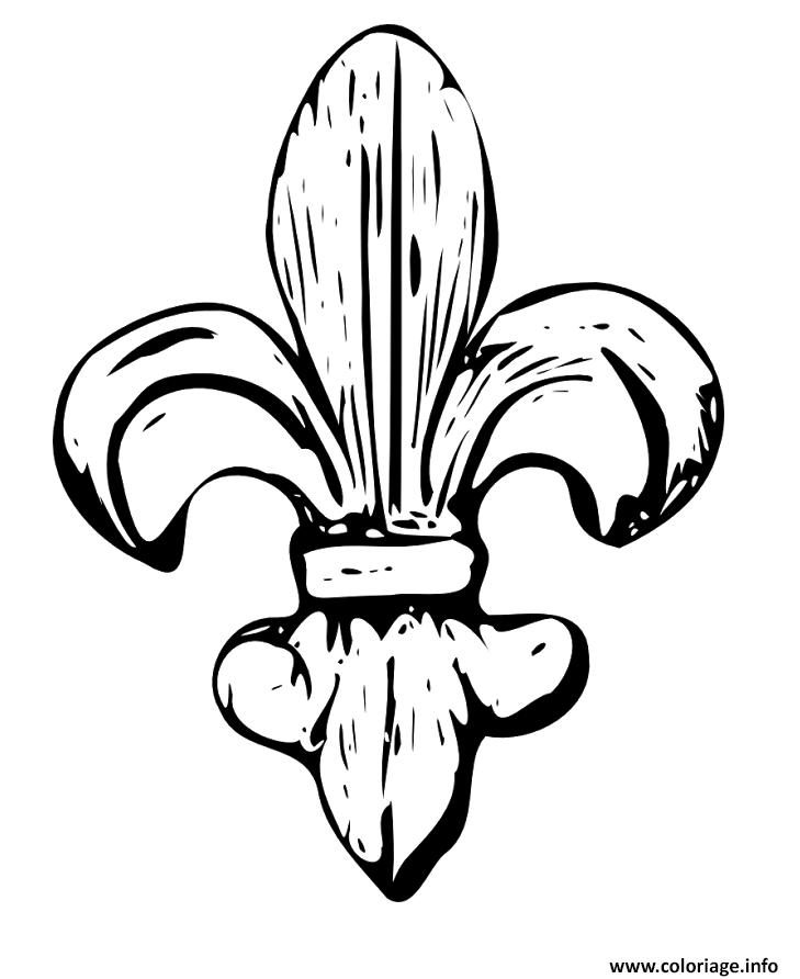 Coloriage fleur de lys en bois dessin - Dessins fleur ...