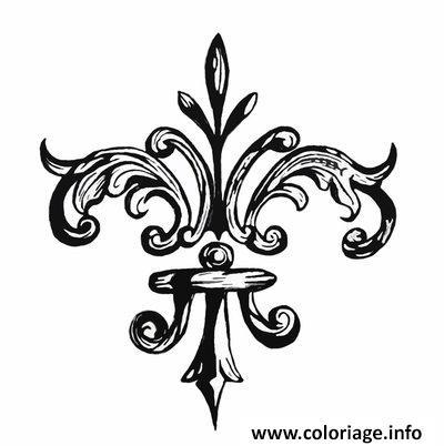 Coloriage Fleur De Lis by Grogee