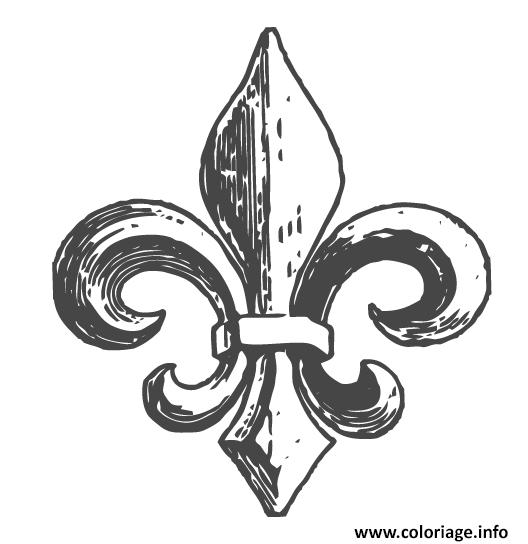 Coloriage Fleur De Lys Quebec Dessin à Imprimer