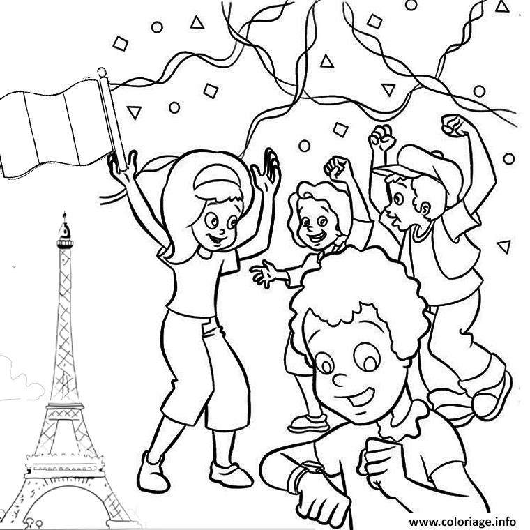 Coloriage 14 Juillet France Fete National Dessin Fete Nationale A Imprimer