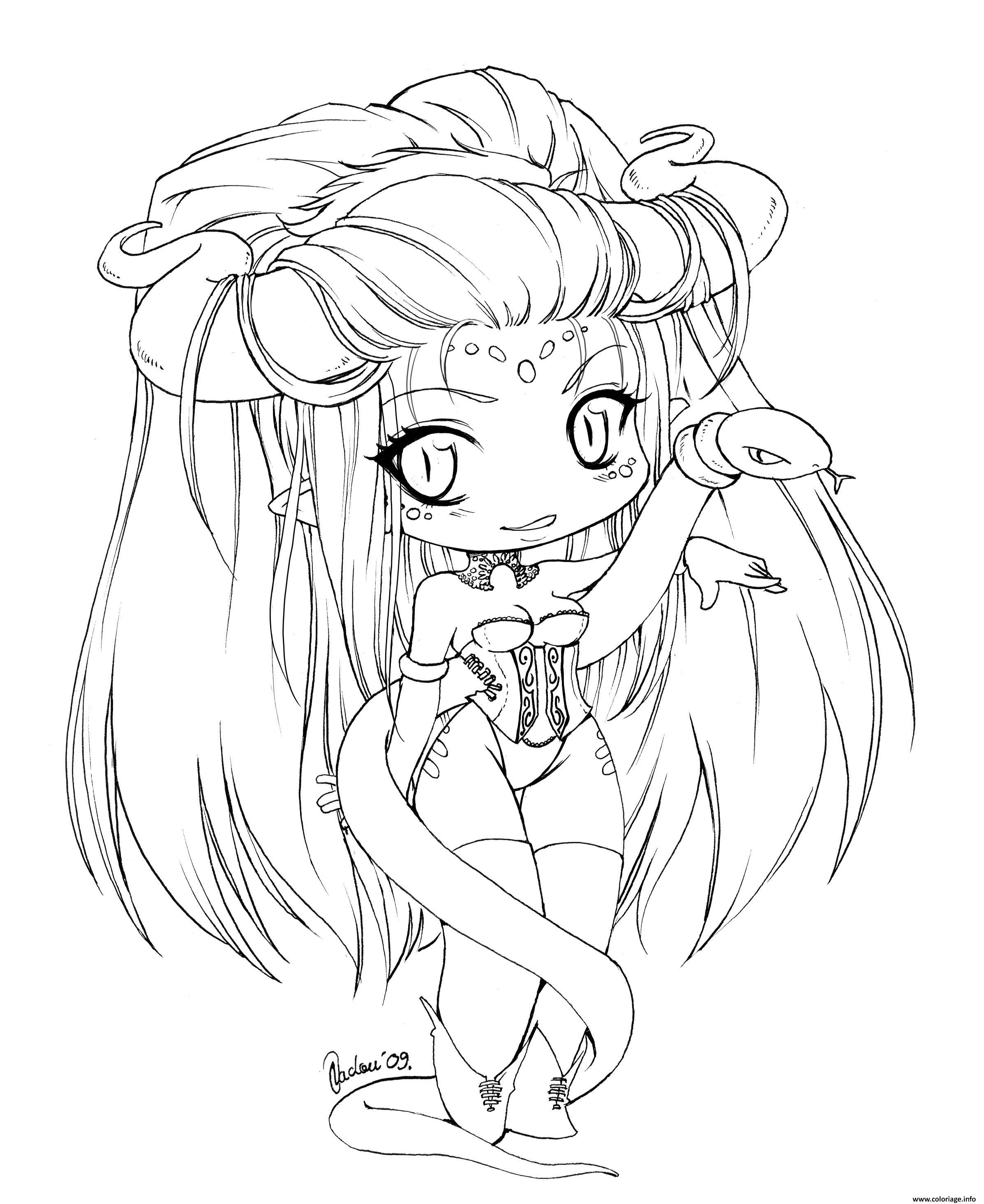 manga kawaii fille fairy coloriage