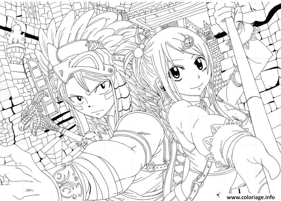 Coloriage Manga Fairy Tail Jecolorie Com