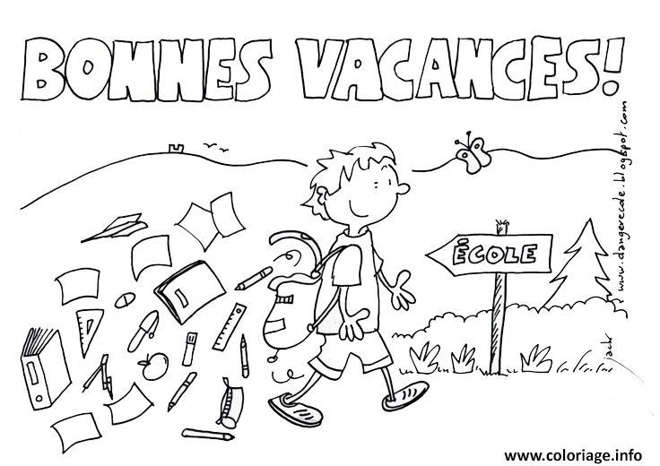 Coloriage Vacances Ecole Ete Ete Dessin