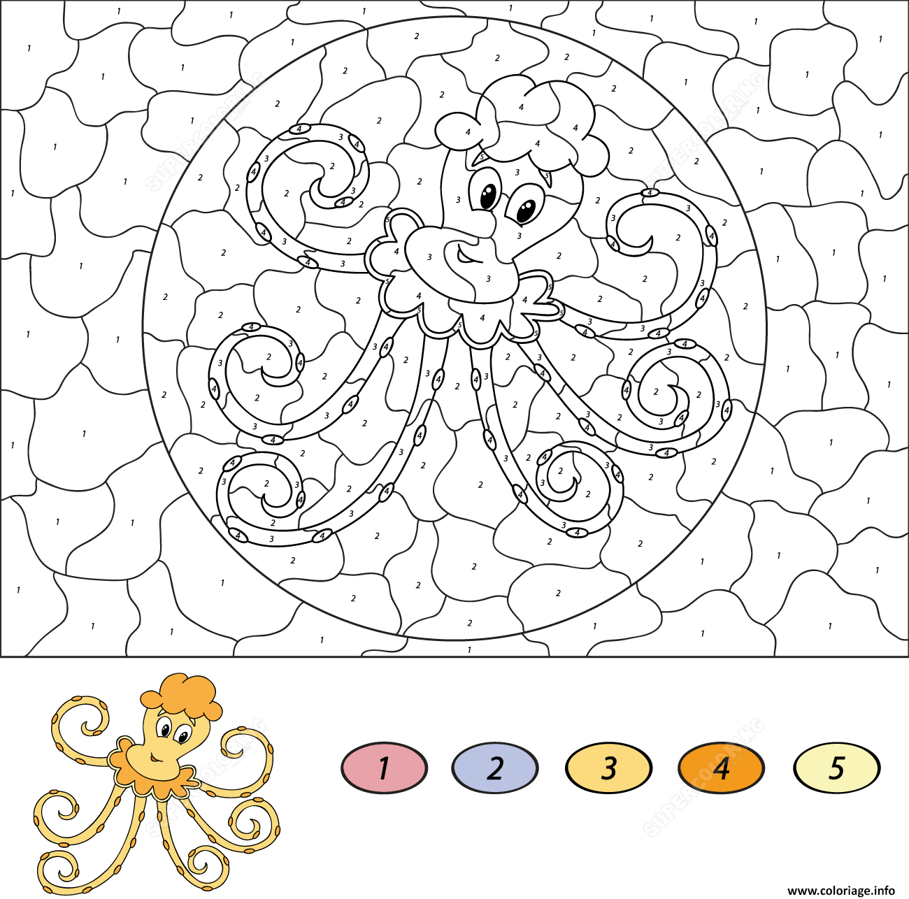 Coloriage Cartoon Octopus Magique Dessin à Imprimer