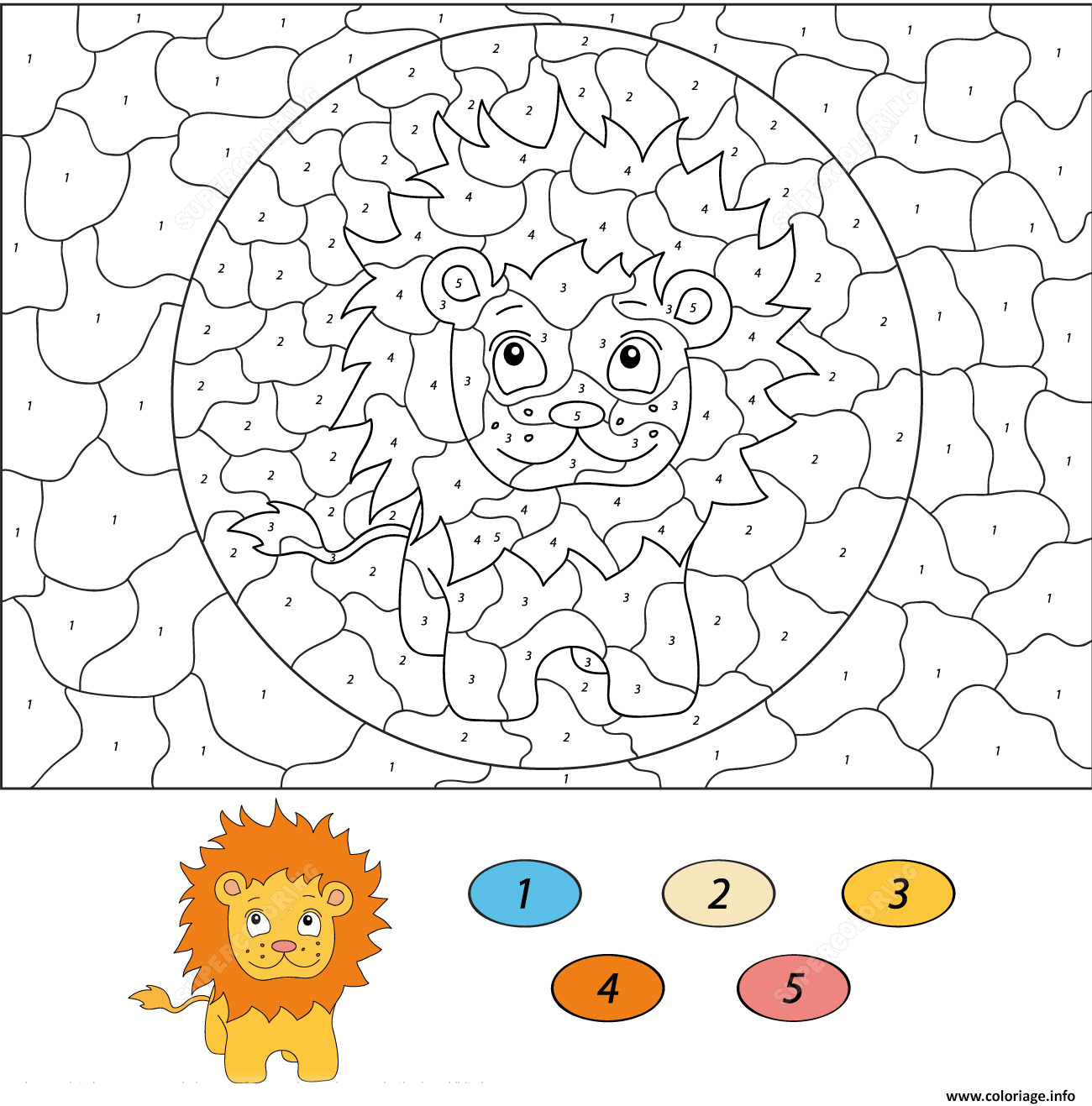 Coloriage Cartoon Lion Magique Dessin