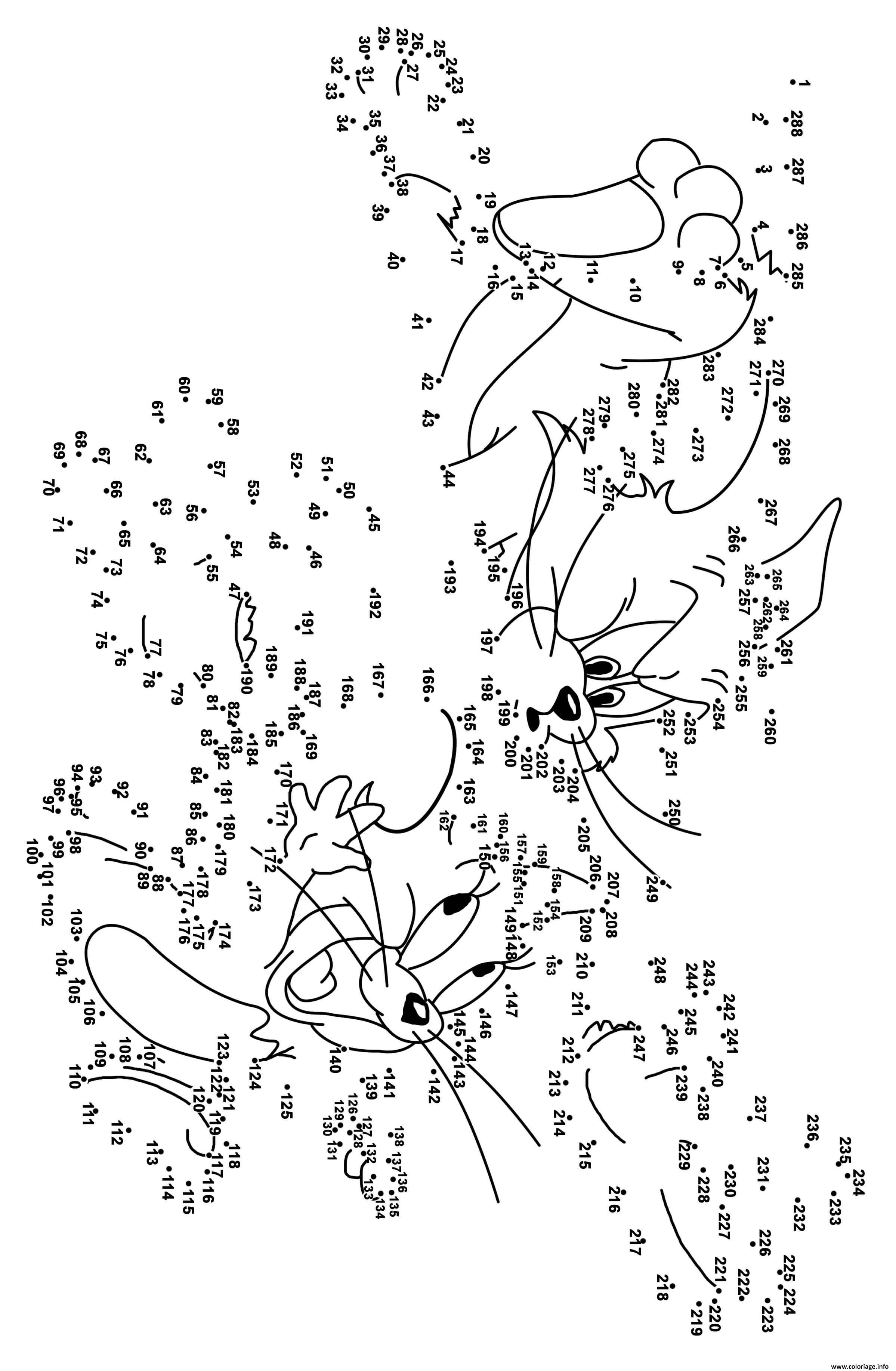 Coloriage Point A Relier Adulte Difficile 300 Points Tom Et Jerry