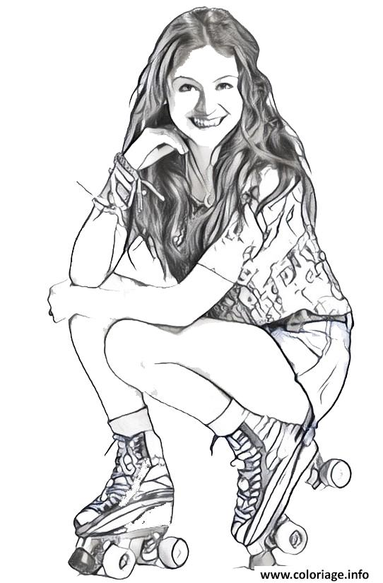 Coloriage Soy Luna En Patin Facile A Colorier Photo Jecolorie Com