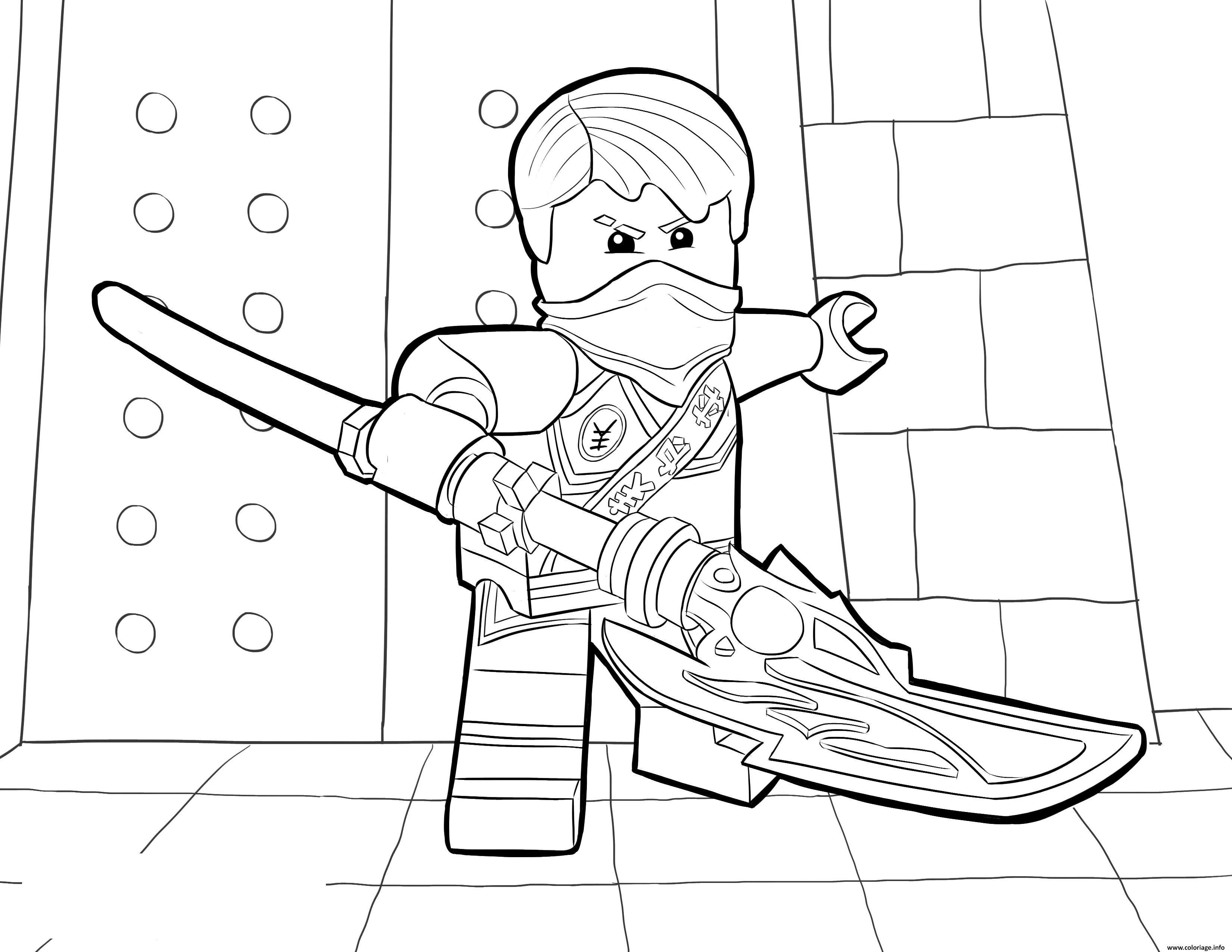 Coloriage lego ninjago jay tournament of elements dessin - Ninja gratuit ...