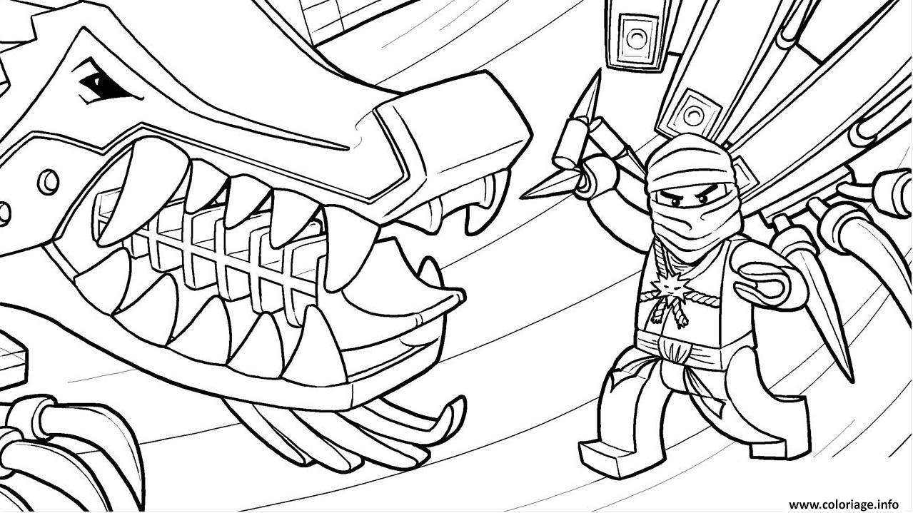 Coloriage LEGO Ninjago Zane And His Ice Dragon Dessin ...
