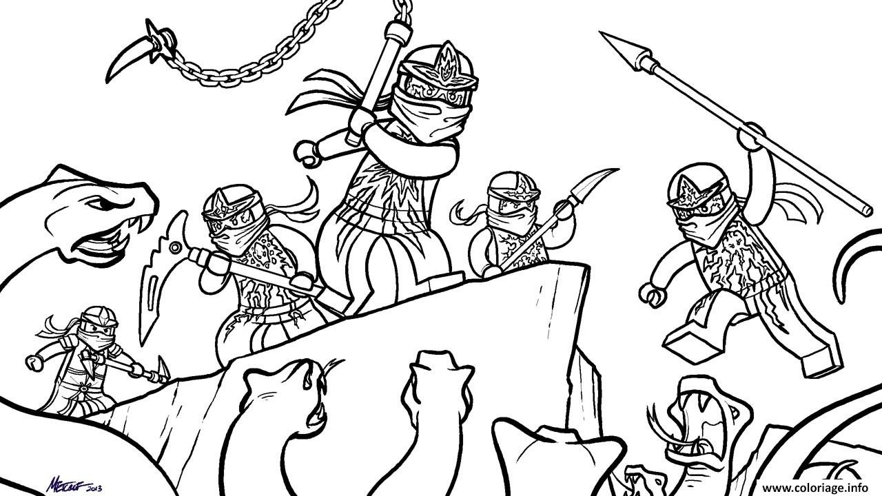 Coloriage lego ninjago nrg ninjas vs snakes dessin - Ninjago a imprimer ...