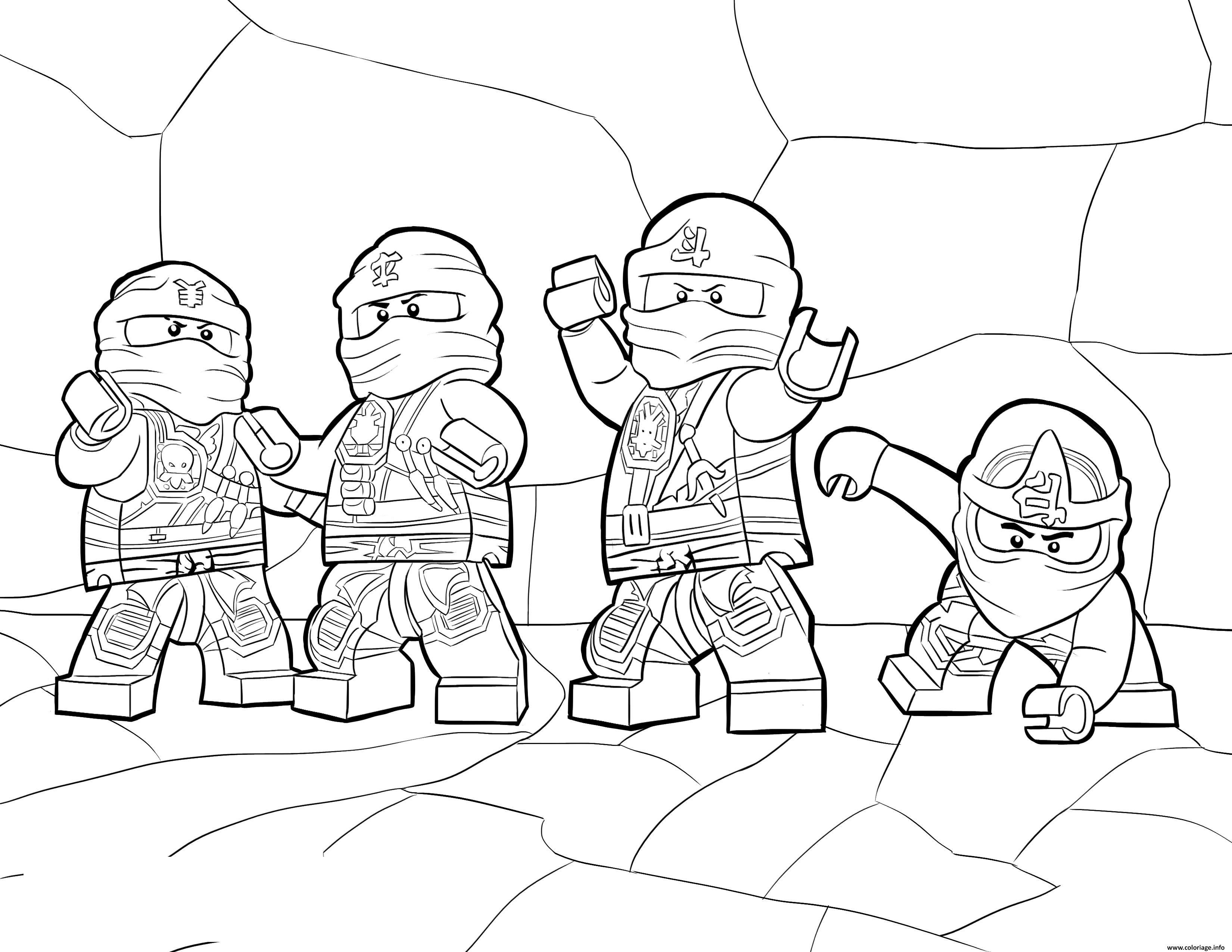 Coloriage LEGO Ninjago Zukin Ninjas dessin