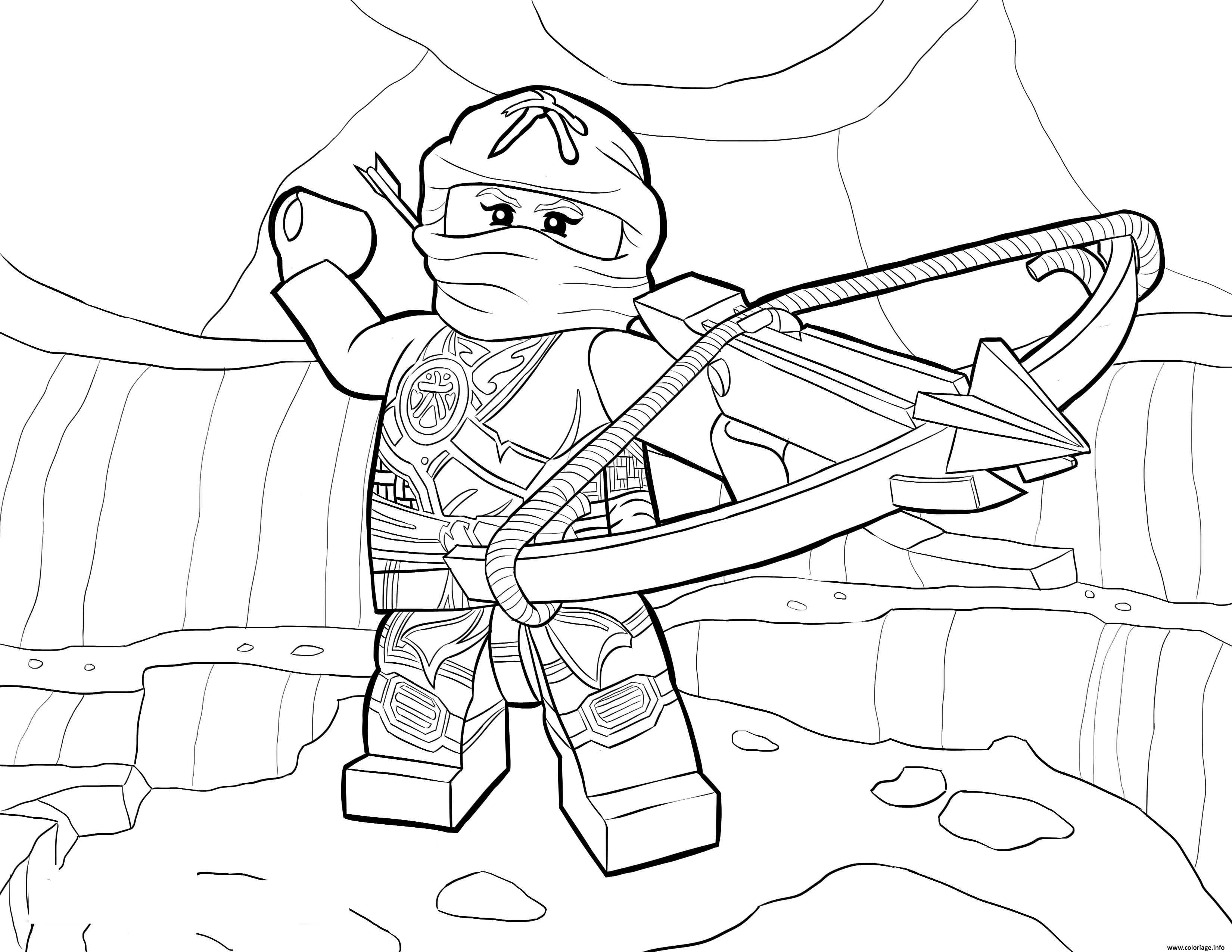 Coloriage LEGO Ninjago Skylor in Zukin Gi