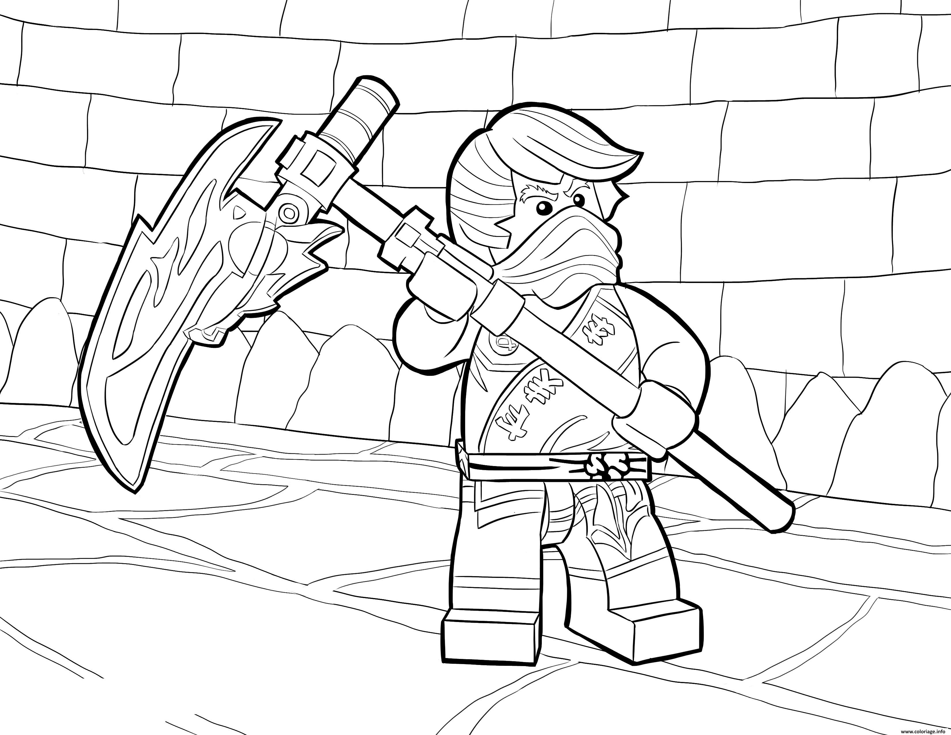 Dessin LEGO Ninjago Cole Tournament of Elements Coloriage Gratuit à Imprimer