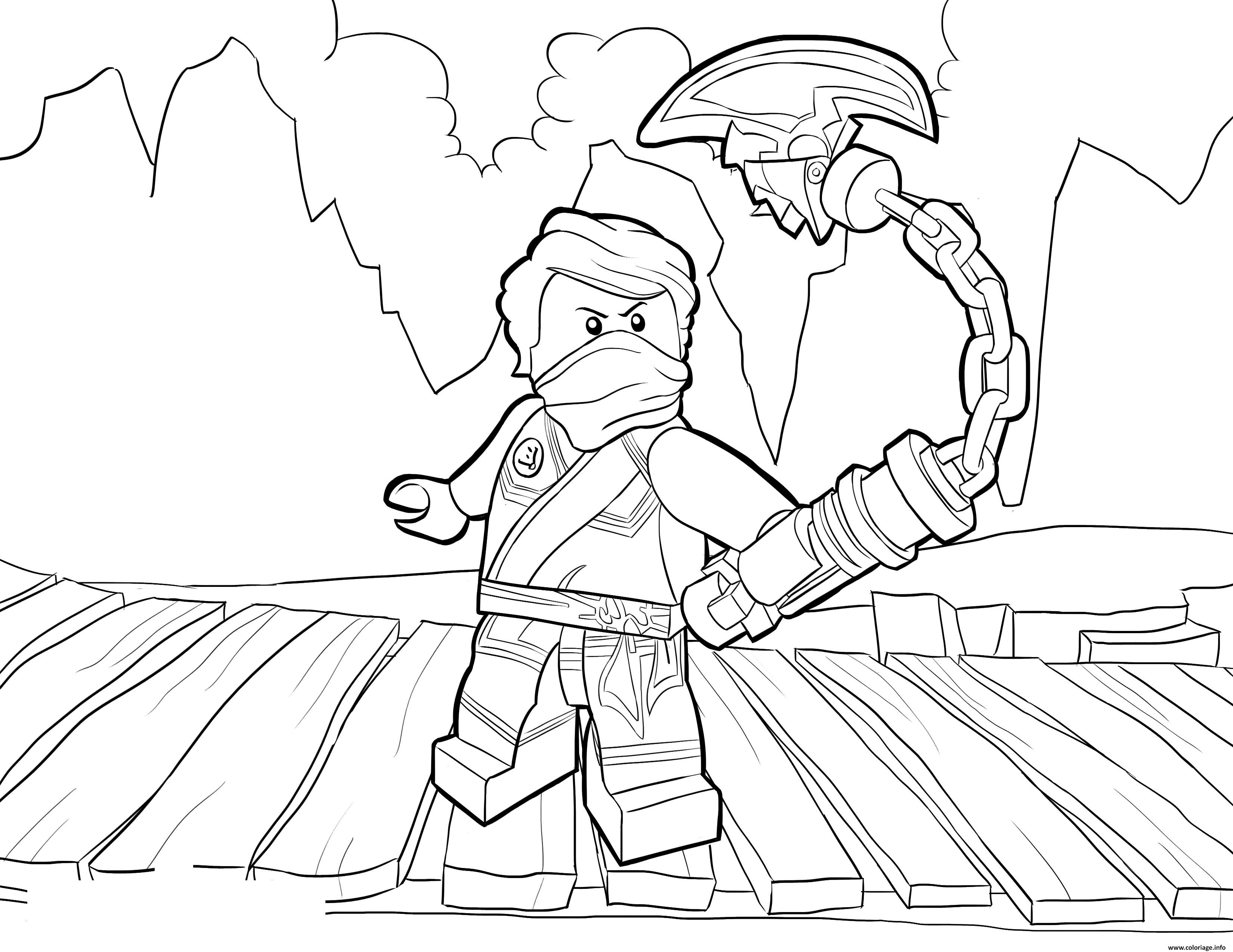 Coloriage LEGO Ninjago Lloyd Tournament Of Elements Dessin à Imprimer