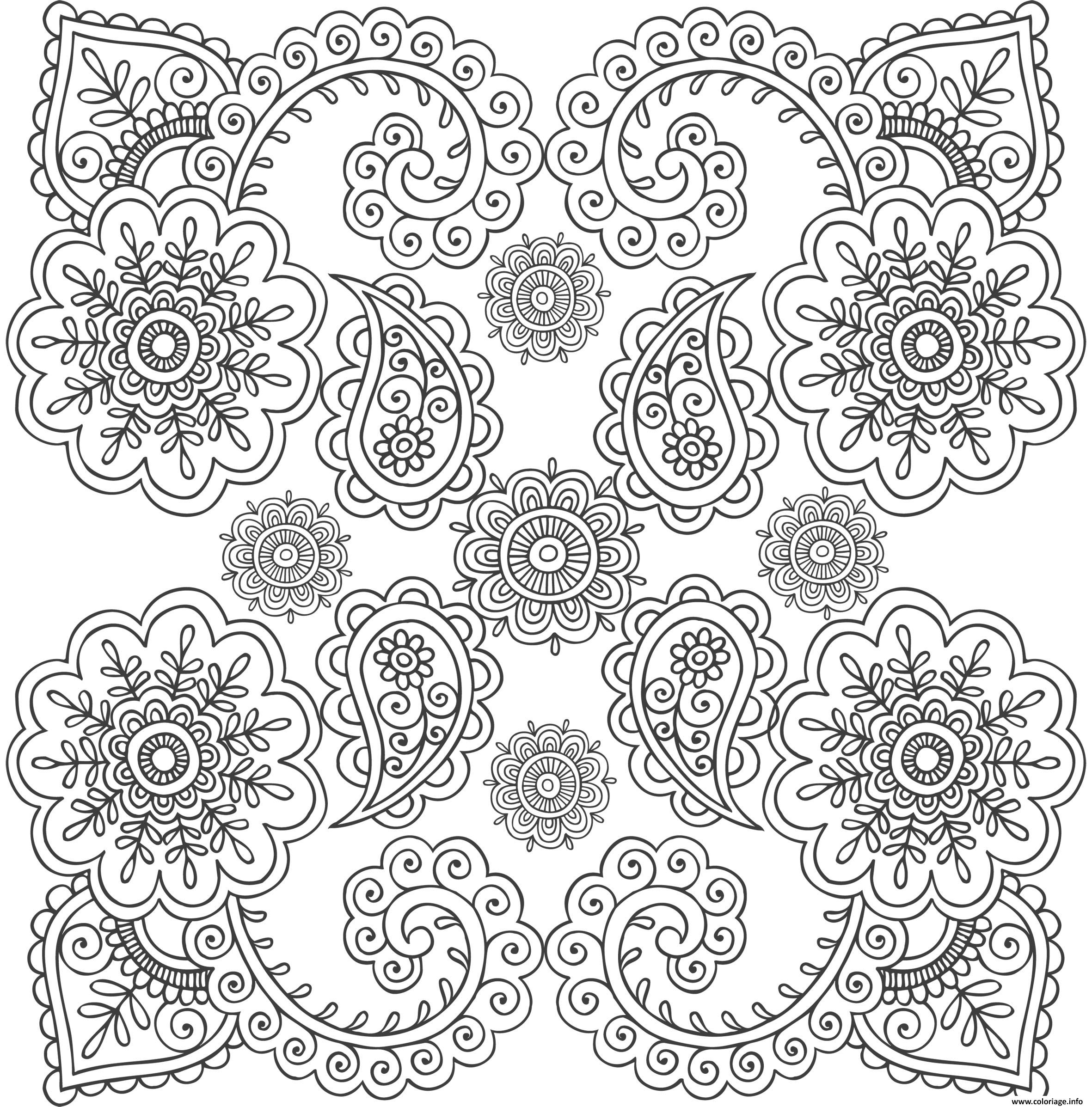 Coloriage Xxl Mandala Anti Stress dessin