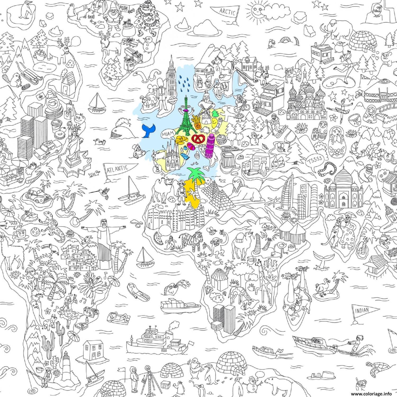 Coloriage Omy Poster Geant De L Atlas Xxl Dessin Xxl A Imprimer