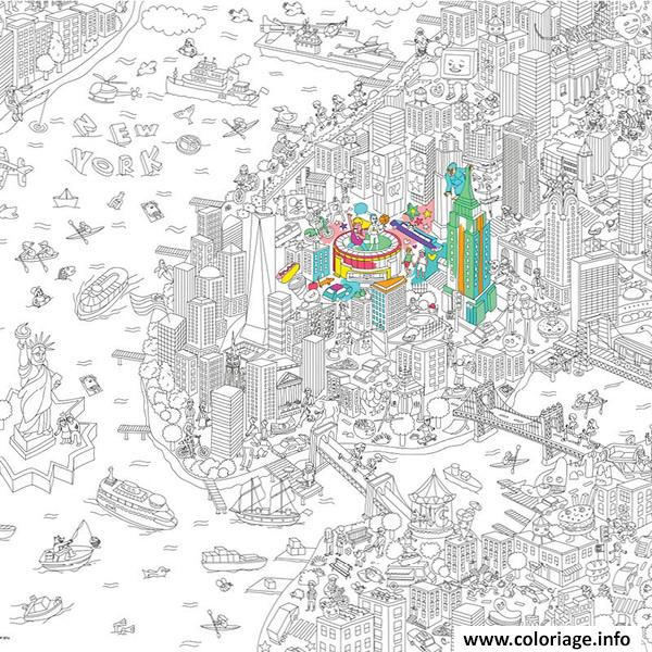Dessin new york city xxl Coloriage Gratuit à Imprimer