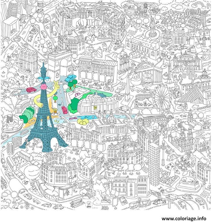 Dessin xxl ville de paris france 2 Coloriage Gratuit à Imprimer