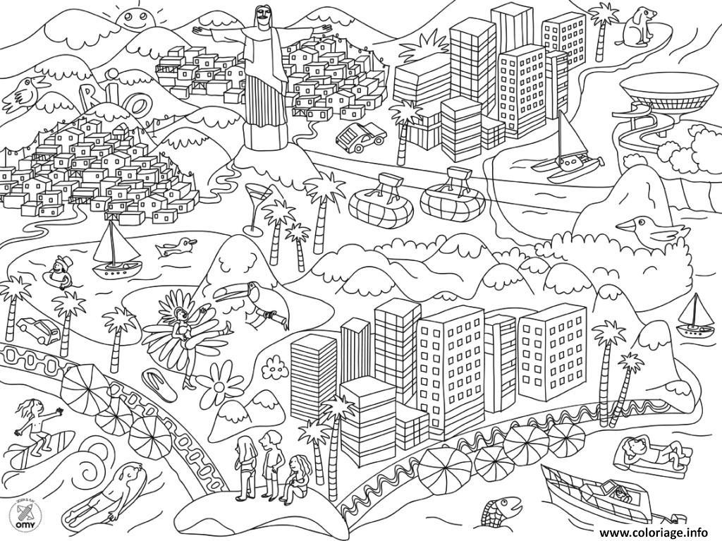 Coloriage xxl bresil rio dessin - Des images a colorier et a imprimer ...