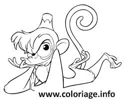 Dessin singe de aladdin Coloriage Gratuit à Imprimer