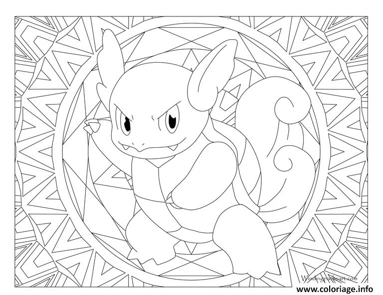 Coloriage Pokemon Mandala Adulte Wartortle Jecolorie Com