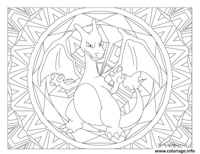 Caterpie Kleurplaat Coloriage Pokemon Mandala Adulte Charizard Dessin
