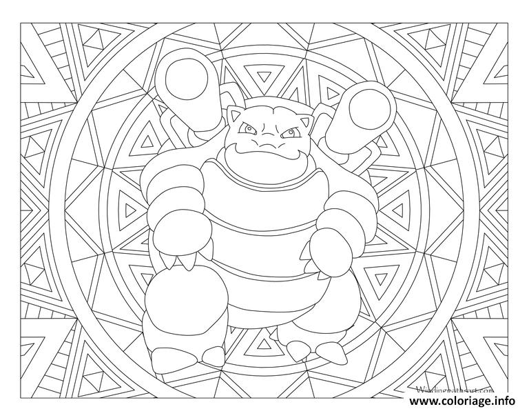 Imprimer Coloriage Mandala Pokemon Pikachu Dessin A