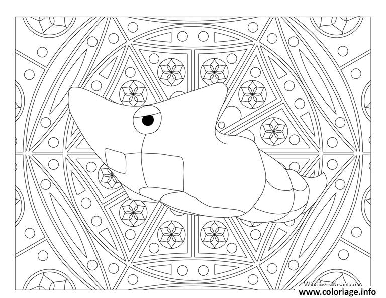 Coloriage pokemon mandala adulte metapod dessin - Mandala a colorier en ligne ...